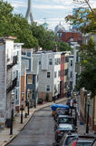 Huizen in Bunkerheuvel, Charlestown, Boston Stock Foto