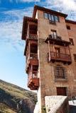 Huizen (casascolgadas) worden gehangen in Cuenca, Castilla La Mancha, Spai die Royalty-vrije Stock Foto