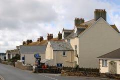 Huizen in Cornwall Stock Afbeelding
