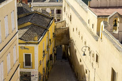 Huizen, daken en paleizen Stock Foto