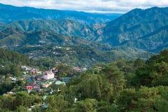 Huizen in de bergen van Baguio Royalty-vrije Stock Foto