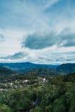 Huizen in de bergen van Baguio Royalty-vrije Stock Afbeeldingen