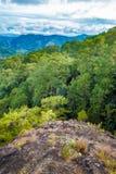 Huizen in de bergen van Baguio Royalty-vrije Stock Foto's
