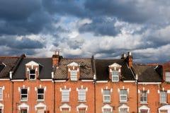 De huizen van Londen Stock Afbeeldingen