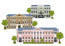 Huizen in de oude stad Stock Foto