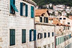Huizen in de oude stad van Dubrovnik Stock Afbeelding