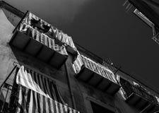 Huizen in de Siciliaanse stad van Cefalu Stock Afbeelding