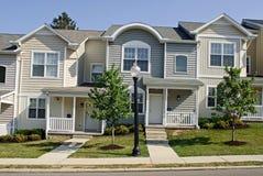 Huizen in de stad Stock Foto
