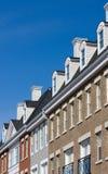 Huizen in de stad Stock Foto's