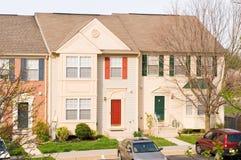 Huizen in de stad in de voorsteden Royalty-vrije Stock Foto
