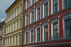 Huizen in de stad in Oslo Stock Afbeelding