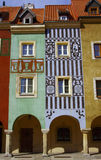 Huizen in de stad in Oude Markt, Poznan Royalty-vrije Stock Foto