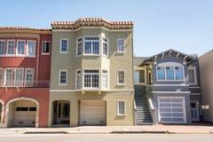 Huizen in de stad in San Francisco Royalty-vrije Stock Afbeeldingen