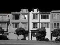 Huizen in de stad in San Francisco Stock Afbeeldingen