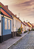 Huizen in de stad in Simrishamn Zweden Stock Foto's