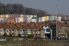 Huizen in de Stad van Bristol, royalty-vrije stock foto's