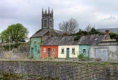 Huizen in de stad van de Limerick - Ierland. Stock Afbeelding