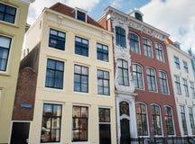 Huizen in de stad van Vlissingen, Nederland De tekst op voorgevel leest Gebouwd in 1771 Royalty-vrije Stock Foto