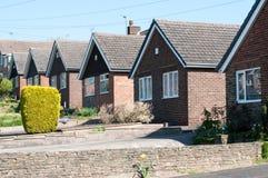 Huizen in de voorsteden, Derby, het UK Stock Foto's