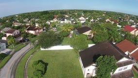 Huizen in de voorsteden in Florida stock footage