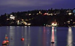 Huizen dichtbij de waterkant in Stockholm Royalty-vrije Stock Foto