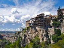 Huizen die in cuenca, Spanje worden gehangen royalty-vrije stock afbeeldingen