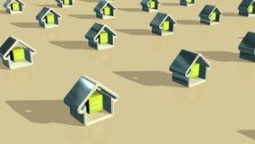 Huizen die worden verkocht vector illustratie