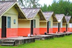 Huizen, die zich in een rij bevinden Stock Foto's