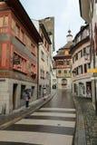 Huizen in een kleine Beierse stad royalty-vrije stock foto
