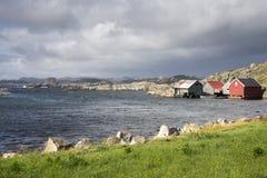huizen in Eirersund Fyr Royalty-vrije Stock Afbeeldingen