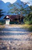 Huizen en bomen Royalty-vrije Stock Afbeelding