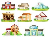 Huizen en de andere bouw Stock Foto's