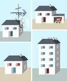 Huizen en de bouw stock illustratie