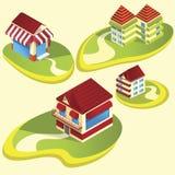 Huizen en flats Royalty-vrije Stock Afbeeldingen