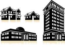 Huizen en Gebouwen Stock Afbeelding