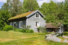Huizen en milieu in Zweden. royalty-vrije stock afbeelding