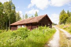 Huizen en milieu in Zweden. stock fotografie