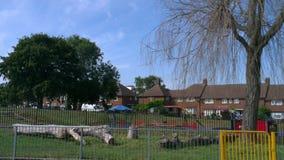 Huizen en Speelplaats in Platteland Royalty-vrije Stock Fotografie
