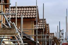 Huizen en steiger Stock Foto