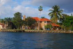 Huizen in Fort Lauderdale Royalty-vrije Stock Foto's