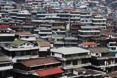 Huizen in Geumho, Seoel, Zuid-Korea Royalty-vrije Stock Fotografie