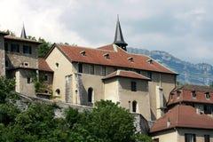 Huizen in Grenoble Stock Afbeelding
