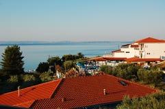Huizen in Griekenland Stock Foto's