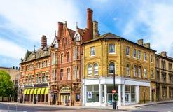 Huizen in het stadscentrum van Southampton Royalty-vrije Stock Foto's