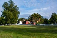 Huizen in historische Williamsburg Virginia Royalty-vrije Stock Afbeeldingen