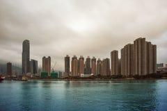 Huizen in Hong Kong Stock Afbeeldingen