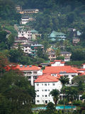 Huizen in Kandy, Sri Lanka stock foto