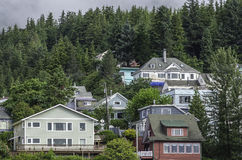Huizen in Ketchikan, Alaska Royalty-vrije Stock Foto