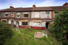 Huizen klaar om worden vernietigd Royalty-vrije Stock Fotografie
