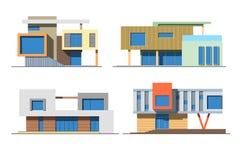 Huizen 9 kleur Royalty-vrije Stock Foto